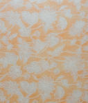 Χαρτί λουλούδια πορτοκαλί-άσπρα ημιδιαφανές 50 χ 70 cm