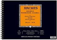 Arches Μπλοκ Σπιράλ Ακουαρέλας Rough Grain 26χ36cm 300gr 12 Φύλλων