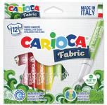 Carioca Fabric Ανεξίτηλοι μαρκαδόροι για ύφασμα σετ 12 τεμ.