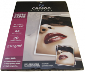 Photo paper Canson glossy A4 270 gr Everyday 20 pages