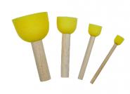 Σέτ 4 εργαλεία απο κίτρινο αφρό (stencil)