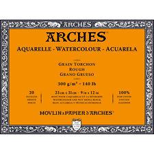 Arches Μπλοκ Ακουαρέλας Rough Grain 23x31cm 300gr 20 Φύλλων