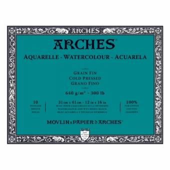 Arches Μπλοκ Ακουαρέλας Cold Pressed 31x41cm 640gr 10 Φύλλων