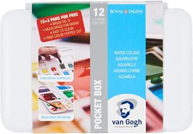 Van Gogh water colour pocket box 12pcs 12 basic colors