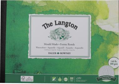 The Langton A5 watercolour cold pressed paper 300gr 12.5 x 18 cm  25φ.