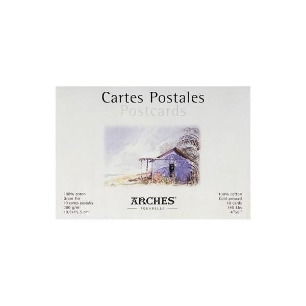 Arches Μπλοκ Carte Postale Grain Fin 10,5x15,5cm 300gr