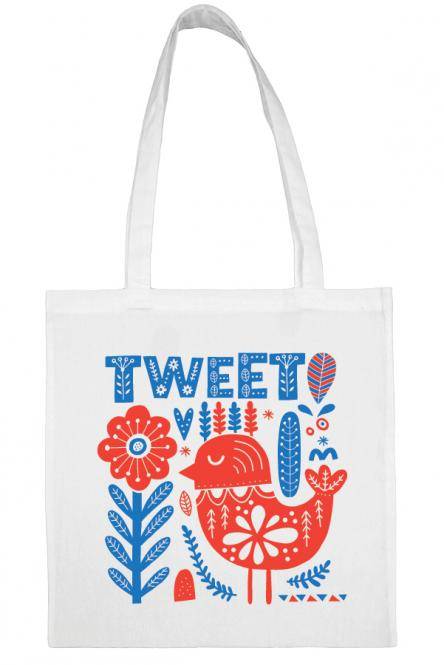 Υφασμάτινη τσάντα.100% Βαμβάκι.Tweet