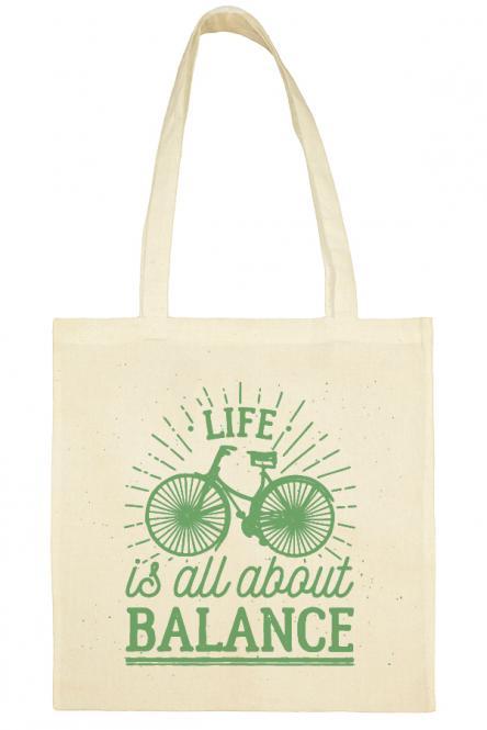 Υφασμάτινη τσάντα.100% Βαμβάκι.Life is all about balance