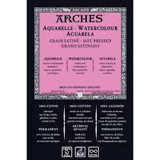 Arches Μπλοκ Ακουαρέλας Hot Pressed 26x36cm 300gr 12 Φύλλων
