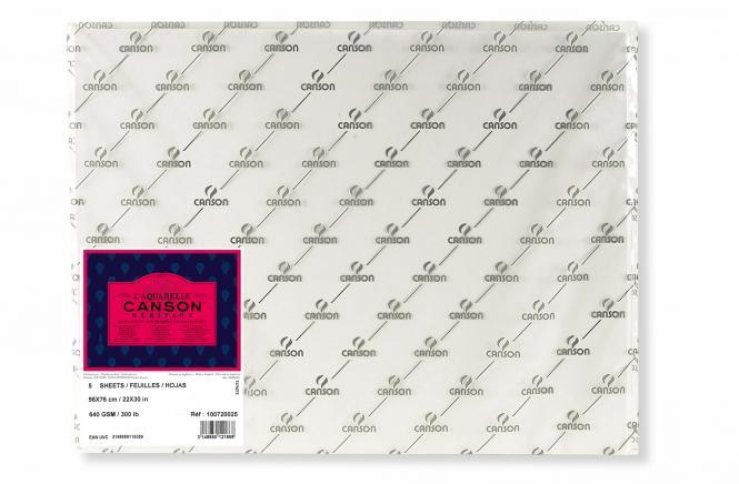 Canson Ηeritage 100%cotton  Hot pressed 56 x76cm 640gr