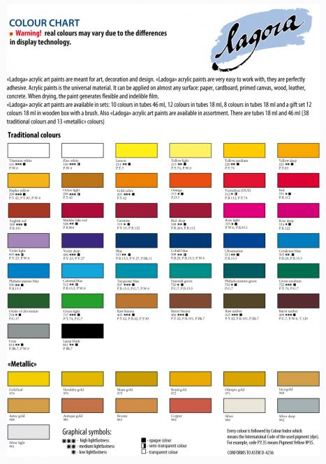 Ladoga Master Class Acrylic colour 46 ml.Προσφορά όλα τα χρώματα