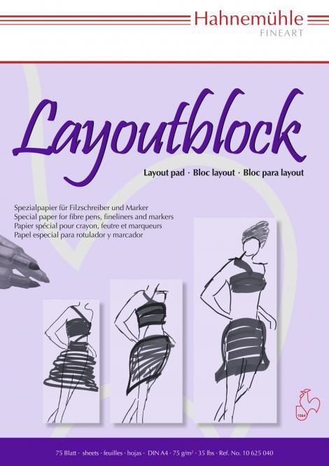 Μπλόκ σχεδίου Layoutblock Hahnemuhle 75 gsm