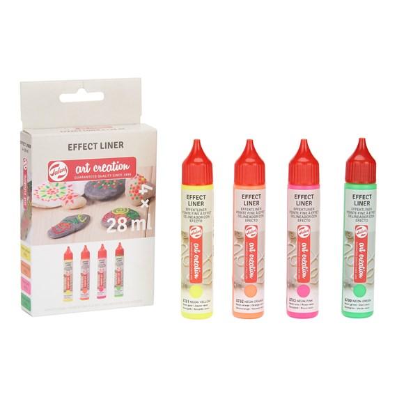 Talens Art Creation Effect liner Set 4X28 ml Neon