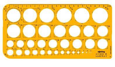 Στένσιλ κύκλων Rotring