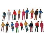 Νext πλαστικά ανθρωπάκια χρωματιστά 1:75 για μακέτες 20τμχ