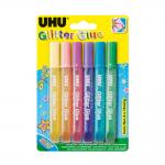 UHU Glitter Glue shiny σωληνάριο 6x10ml