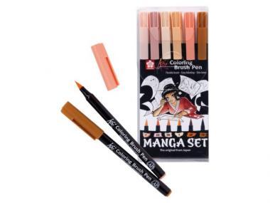 Sakura Manga brush coloring set 6 τμχ