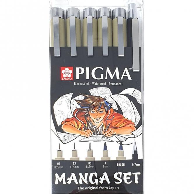 Sakura PIgma Manga set 6 τμχ